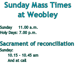 Sunday Mass Times 